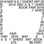 Ghent Art Book Fair